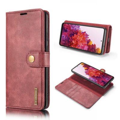 Samsung Galaxy S20 FE Nahkakotelo DG.MING Punainen