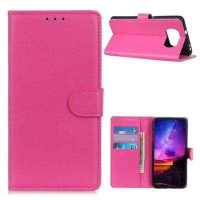 Xiaomi Poco X3 NFC Kotelo Pinkki Lompakko
