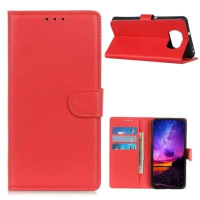 Xiaomi Poco X3 NFC Kotelo Punainen Lompakko