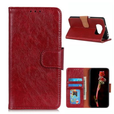 Xiaomi Poco X3 NFC Kotelo Punainen Nahka