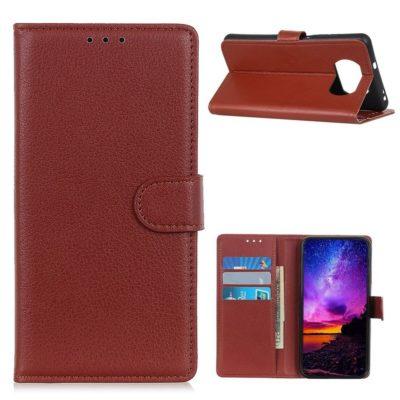 Xiaomi Poco X3 NFC Kotelo Ruskea Lompakko
