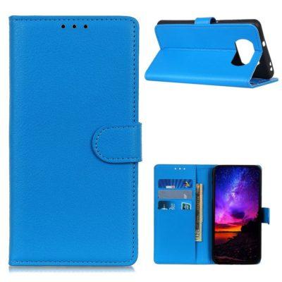 Xiaomi Poco X3 NFC Kotelo Sininen Lompakko