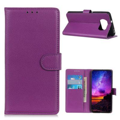 Xiaomi Poco X3 NFC Kotelo Violetti Lompakko