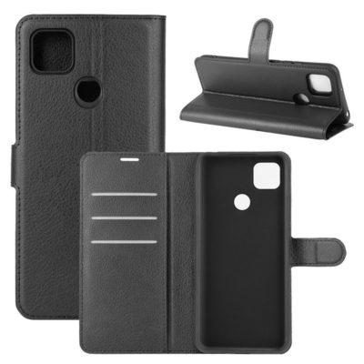 Xiaomi Redmi 9C NFC Kotelo PU-Nahka Musta