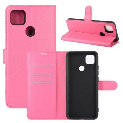 Xiaomi Redmi 9C NFC Kotelo PU-Nahka Pinkki