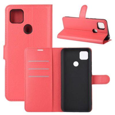 Xiaomi Redmi 9C NFC Kotelo PU-Nahka Punainen