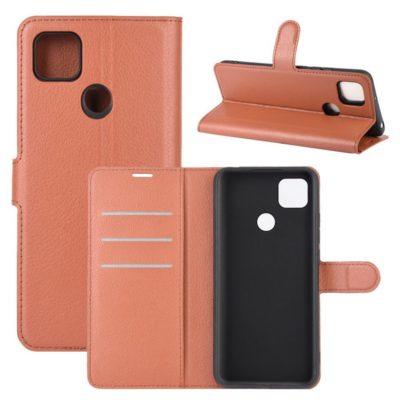 Xiaomi Redmi 9C NFC Kotelo PU-Nahka Ruskea