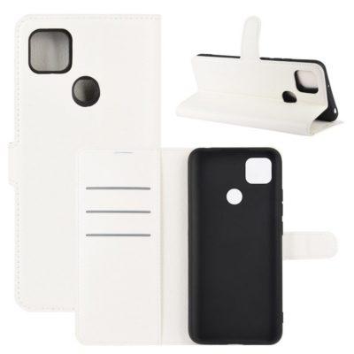 Xiaomi Redmi 9C NFC Kotelo PU-Nahka Valkoinen