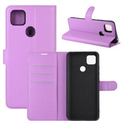Xiaomi Redmi 9C NFC Kotelo PU-Nahka Violetti