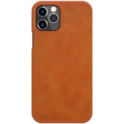 Apple iPhone 12 / 12 Pro Kotelo Nillkin Qin Ruskea