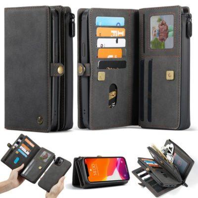 Apple iPhone 12 / 12 Pro Lompakko CASEME Musta
