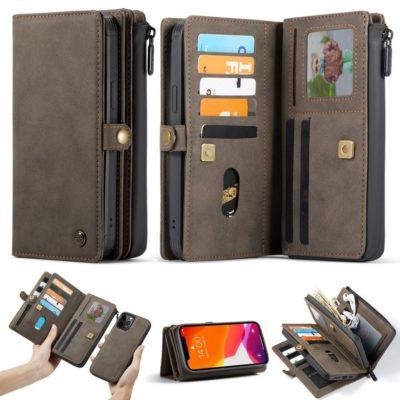 Apple iPhone 12 / 12 Pro Lompakko CASEME Ruskea