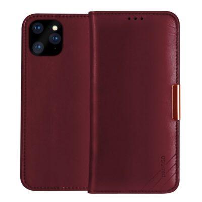 Apple iPhone 12 Pro Max Nahkakotelo DZGOGO Punainen