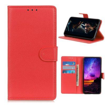 Nokia 3.4 Lompakko Suojakotelo Punainen