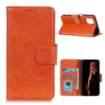OnePlus 8T Suojakotelo Oranssi Nahka