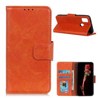 OnePlus Nord N10 5G Suojakotelo Oranssi Nahka