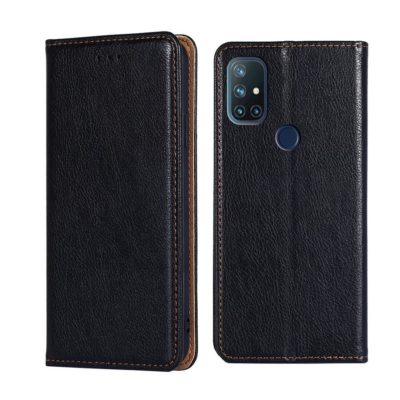 OnePlus Nord N10 5G Suojakotelo PU-Nahka Musta