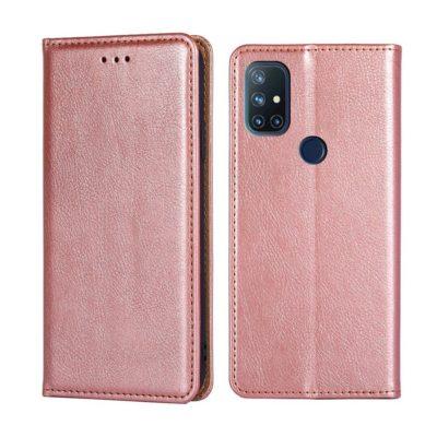 OnePlus Nord N10 5G Suojakotelo PU-Nahka Ruusukulta