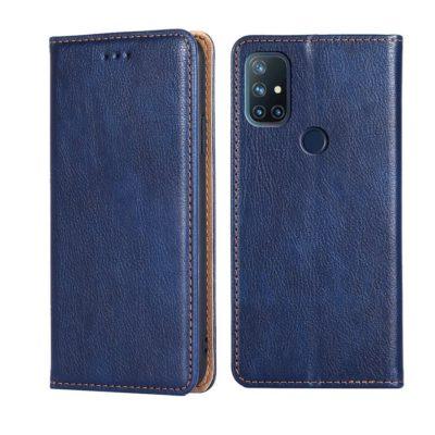 OnePlus Nord N10 5G Suojakotelo PU-Nahka Sininen