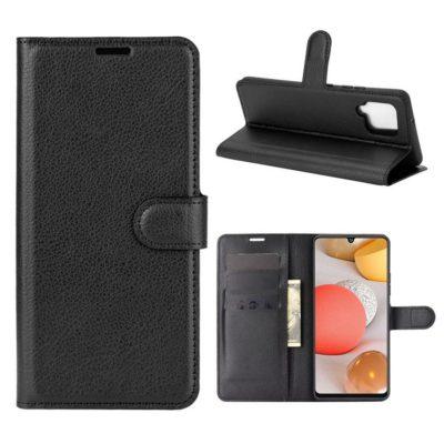 Samsung Galaxy A42 5G Kotelo PU-Nahka Musta