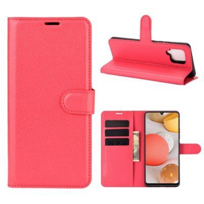 Samsung Galaxy A42 5G Kotelo PU-Nahka Punainen