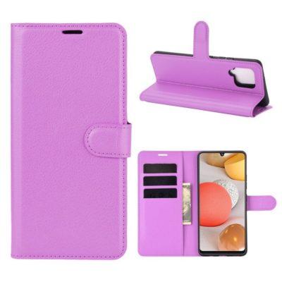 Samsung Galaxy A42 5G Kotelo PU-Nahka Violetti
