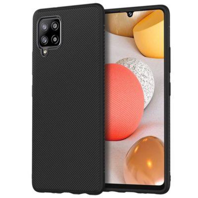 Samsung Galaxy A42 5G Suojakuori Silikoni Musta