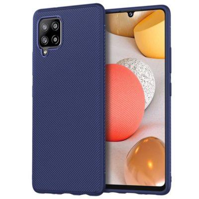 Samsung Galaxy A42 5G Suojakuori Silikoni Sininen