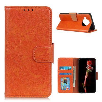 Xiaomi Mi 10T Lite 5G Kotelo Oranssi Nahka