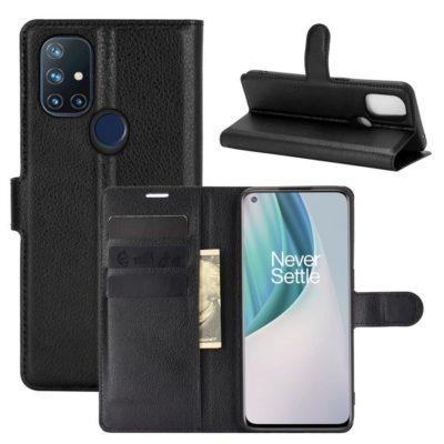 OnePlus Nord N10 5G Kotelo PU-Nahka Musta
