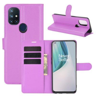 OnePlus Nord N10 5G Kotelo PU-Nahka Violetti