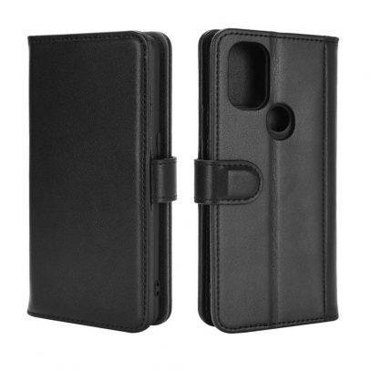 OnePlus Nord N10 5G Nahkakotelo Musta