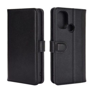 OnePlus Nord N100 Kotelo Musta Nahka