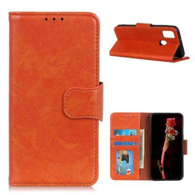 OnePlus Nord N100 Nahkakotelo Oranssi