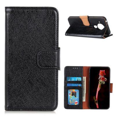 Nokia 5.4 Lompakko Suojakotelo Musta Nahka