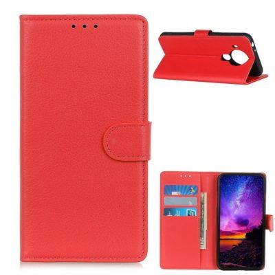 Nokia 5.4 Lompakko Suojakotelo Punainen