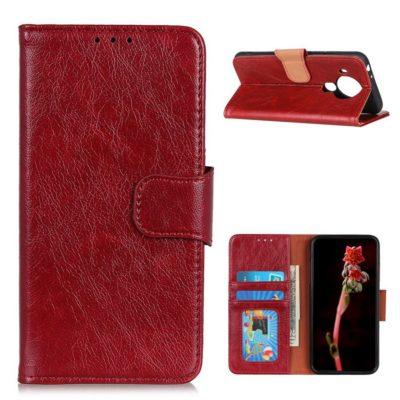 Nokia 5.4 Lompakko Suojakotelo Punainen Nahka