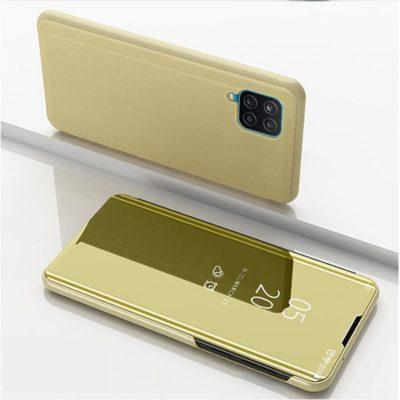 Samsung Galaxy A12 Kotelo Peilipinta Kulta