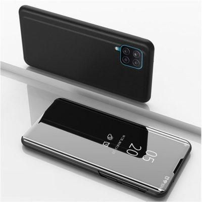Samsung Galaxy A12 Kotelo Peilipinta Musta