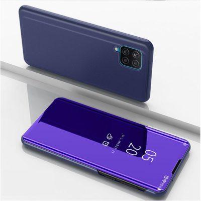 Samsung Galaxy A12 Kotelo Peilipinta Tummansininen