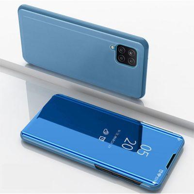 Samsung Galaxy A12 Kotelo Peilipinta Vaaleansininen