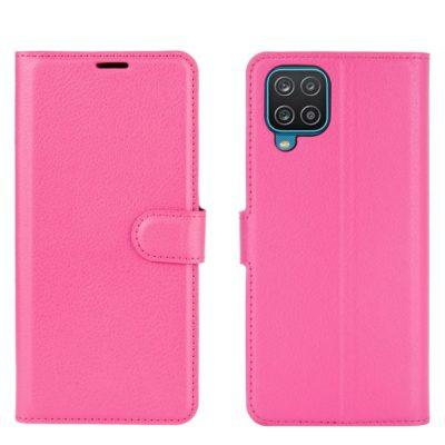 Samsung Galaxy A12 Kotelo PU-Nahka Pinkki