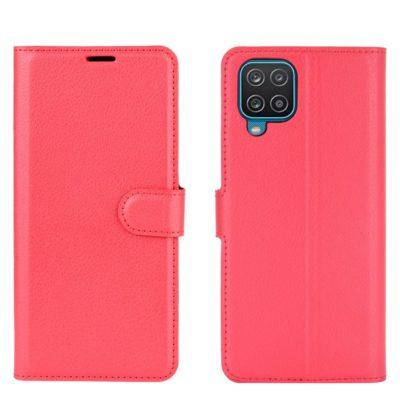 Samsung Galaxy A12 Kotelo PU-Nahka Punainen