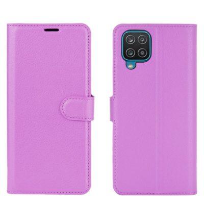 Samsung Galaxy A12 Kotelo PU-Nahka Violetti