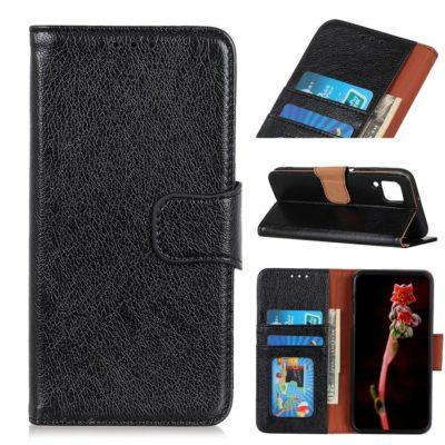 Samsung Galaxy A12 Suojakotelo Musta Nahka