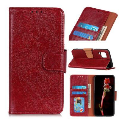 Samsung Galaxy A12 Suojakotelo Punainen Nahka
