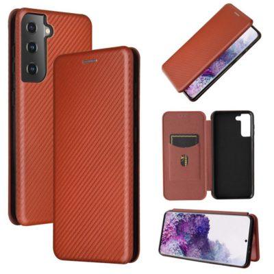 Samsung Galaxy S21 5G Kotelo Hiilikuitu Ruskea