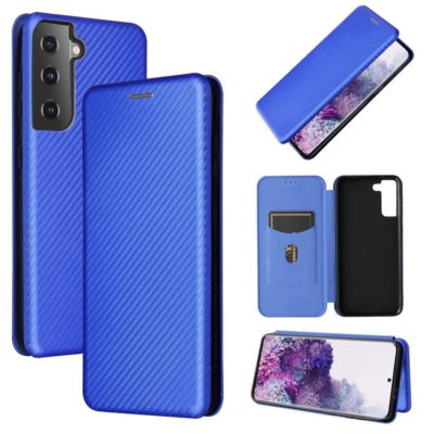 Samsung Galaxy S21 5G Kotelo Hiilikuitu Sininen