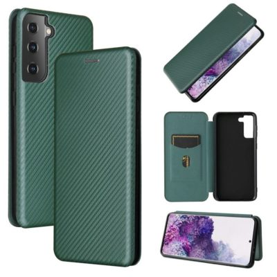 Samsung Galaxy S21 5G Kotelo Hiilikuitu Vihreä