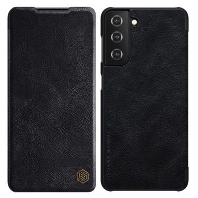 Samsung Galaxy S21 5G Kotelo Nillkin Qin Musta
